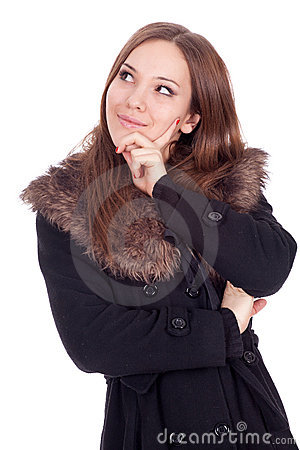 Young woman in winter jacket