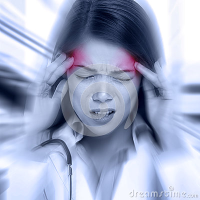 Free Young Woman With A Pounding Headache Stock Images - 48989184