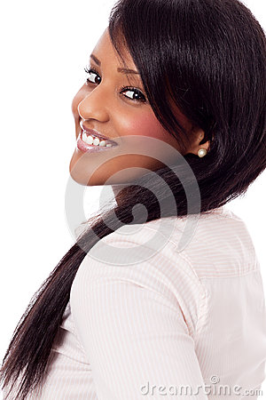 Free Young Woman With Black Skin Isolated Portrait Stock Photography - 27827722