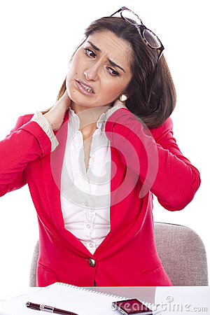 Free Young Woman With Neck Pain Stock Photos - 37229263