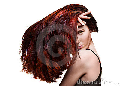 Young woman with wonderful hair