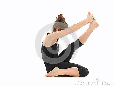 Young woman in yoga posture