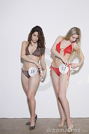 Young Women in Bikini Contest