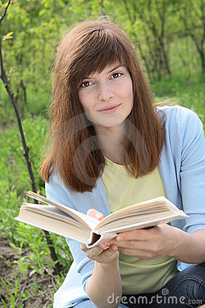 Young Woman with a book