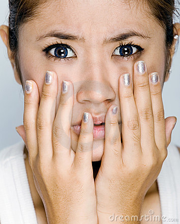 Free Young Women - Expression Afraid Stock Photography - 7464492