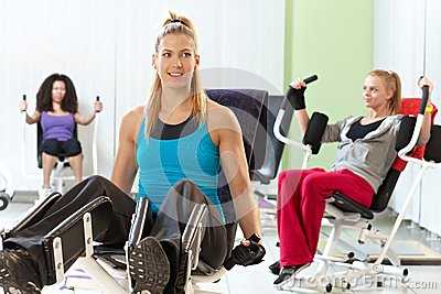 Young women at the gym