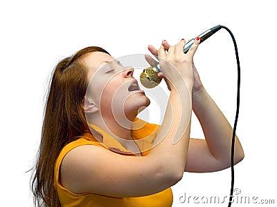 Young women sing