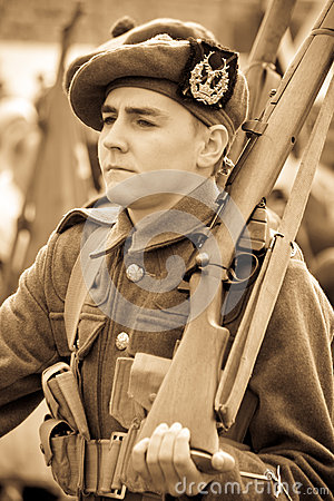 Young World War 1 Soldier Editorial Stock Image