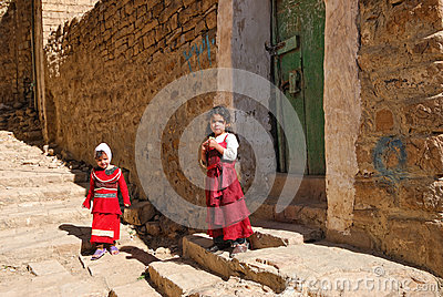Young Yemeni girls Editorial Photo