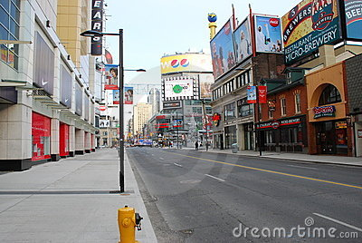 Younge Street Toronto Canada Editorial Stock Photo