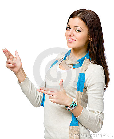 Youngster hand guns gesturing