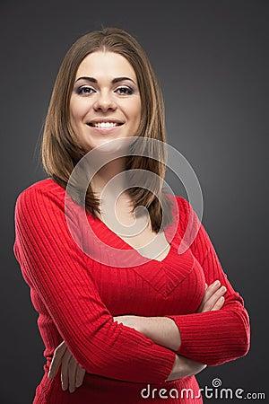 Younng woman close up portrait