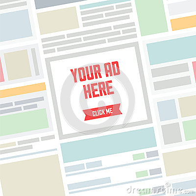 Free Your AD Here Flat Illustration Stock Photo - 36181900