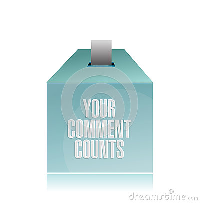 Free Your Comment Counts. Suggestion Box Illustration Stock Photography - 36800242