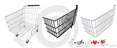 Your content in a cart