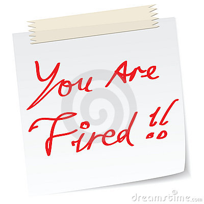 your are fired  note