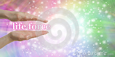 Your Life Force is in Your Hands Stock Photo