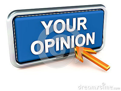 Your opinion survey Stock Photo
