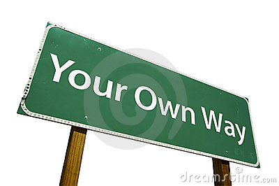 Your Own Way road sign