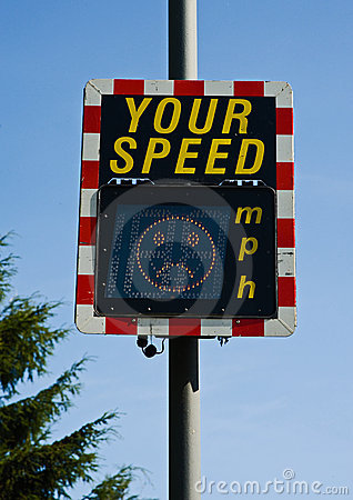 Your speed: unhappy face.