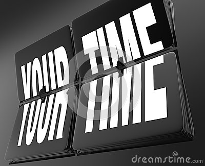 Your Time Words on Retro Clock Flip Tiles Personal Break Vacatio
