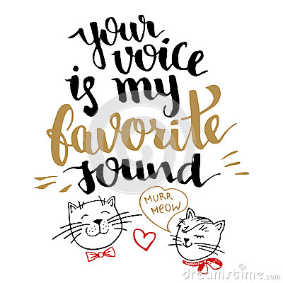 Free Your Voice Is My Favorite Sound Calligraphy Card Stock Photography - 65235842