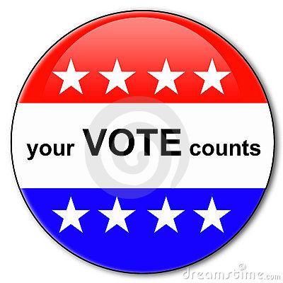 Free Your Vote Counts Royalty Free Stock Image - 18168876