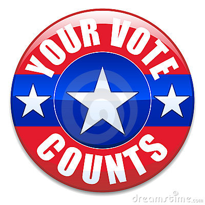 Your Vote Counts Vector Illustration