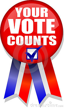 Free Your Vote Counts Button/AI Stock Photos - 4292703