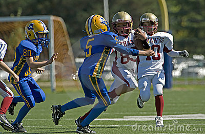 Youth American Football Editorial Photo