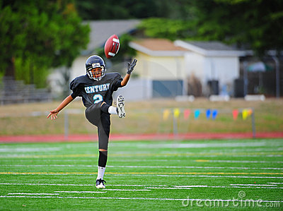 Youth American Football the kick off Editorial Image