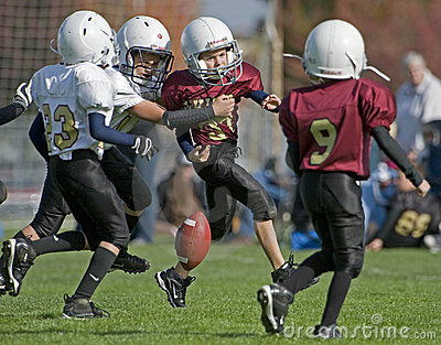 Youth American Football loose ball Editorial Image