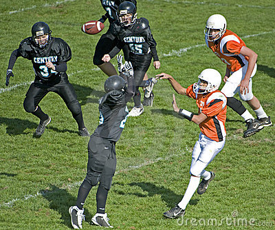Youth American football play Editorial Stock Image