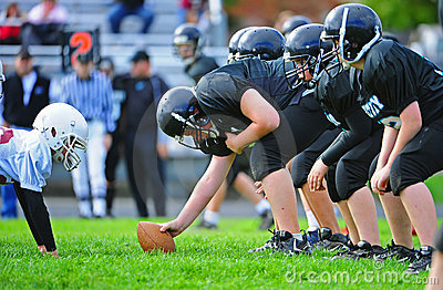 Youth American Football Scimage line Editorial Image