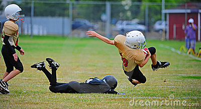 Youth American Football tackle Editorial Image
