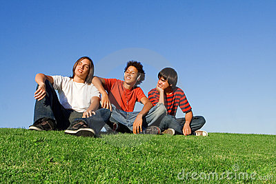 Youth chilling out