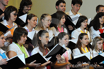 Youth choir festival Editorial Image