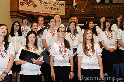 Youth choir festival Editorial Stock Photo