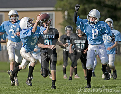 Youth Football Editorial Stock Photo