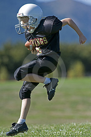 Youth football in the end zone Editorial Photo
