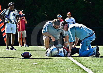 Youth Football Injured Player Editorial Stock Photo