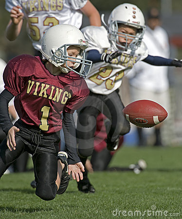 Youth Football, loose ball Editorial Stock Photo