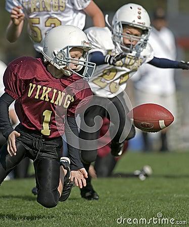 Youth Football, loose ball Editorial Stock Photo