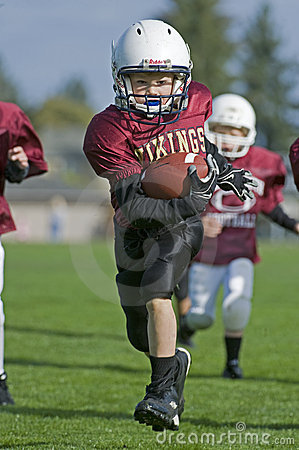 Youth Football run to the endzone Editorial Stock Photo
