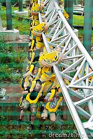 Youth having fun in Amusement Park Sarkanniemi Editorial Image