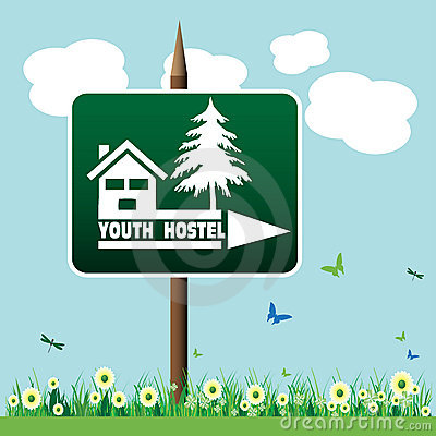 Youth hostel sign