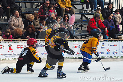 Youth ice hockey players in action Editorial Photo