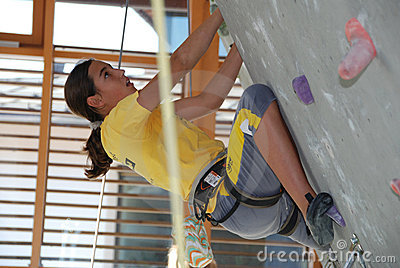 Youth indoor climbing Editorial Photo