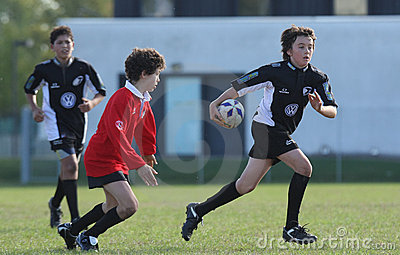 Youth rugby championship Editorial Stock Photo
