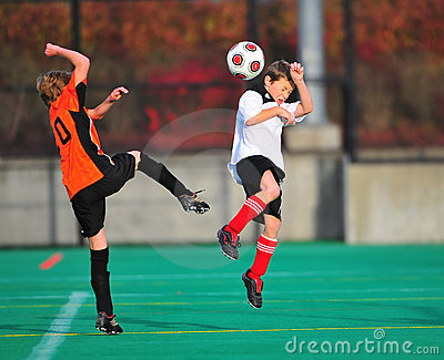 Youth soccer action Editorial Stock Image